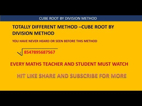 ❖ Cube Root by Division Method|Non perfect numbers | You have Never Seen [English] ❖