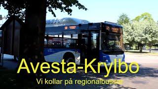 2020-06-11 AVESTA-KRYLBO STATION Vi kollar på regionlbussar. ( Filmat av Jonatan Lindström )