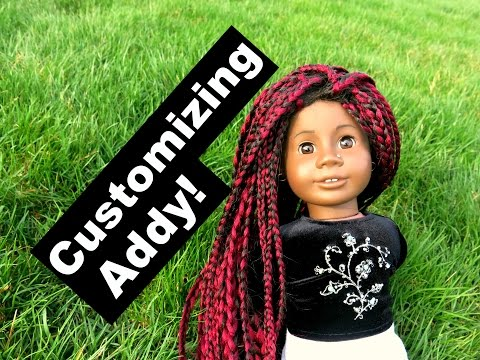 Customizing my American Girl doll Addy!