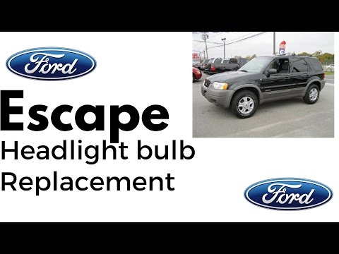 How to replace Ford Escape Headlight Bulb Replacement