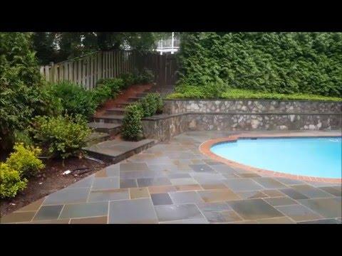 Pennsylvania Flagstone Pool Deck and Patio in Arlington, VA