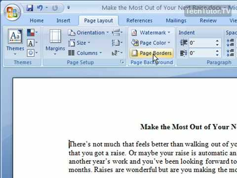 Add a Page Border in Word 2007
