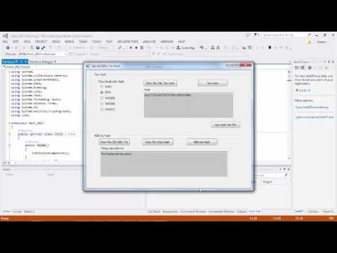 Demo code c# Hàm băm mật mã(Hash & MAC)