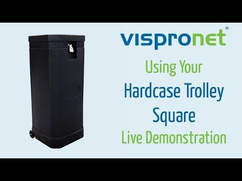 Portable Tradeshow Display Case Setup - Hardcase Trolley Square