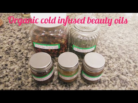 HOW TO MAKE 5 ORGANIC INFUSED BEAUTY OILS AT HOME | COLD INFUSION METHOD
