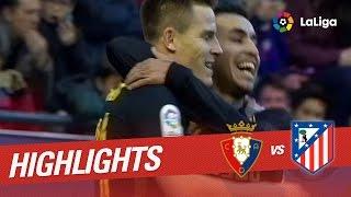 Resumen de Osasuna vs Atlético de Madrid (0-3)