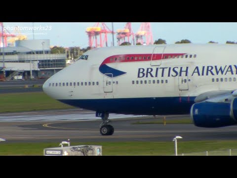 GOODBYE SPEEDBIRD 747 - LAST TAKE OFF FROM SYDNEY AIRPORT