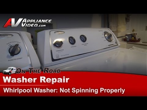 Washer Diagnostic Repair - Not Spinning Properly - Whirlpool , Maytag & Kenmore