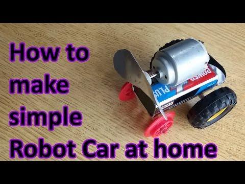 How to make easy robot car at home, build your own robot car, robot robot