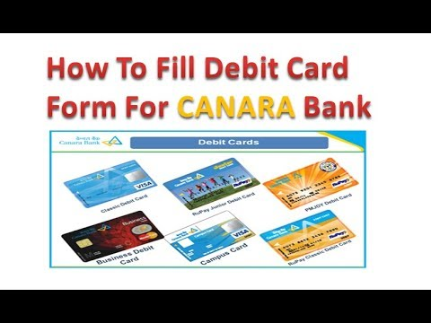 Application Form For Canara bank debit card IN Hindi