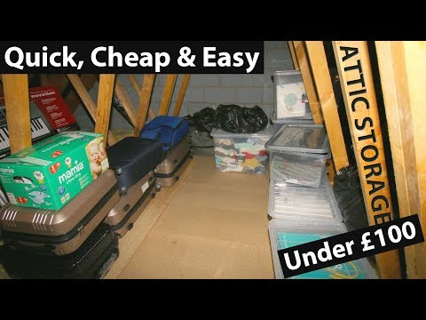 DIY LOFT STORAGE (UNDER $100) - Add Quick, Cheap, Easy space to your house or new build
