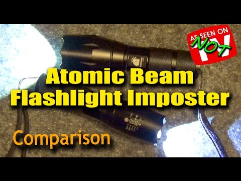 Atomic Beam Flashlight Imposter - Is There a Difference?