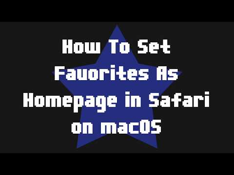 How To Set Favorites As Homepage in Safari on macOS