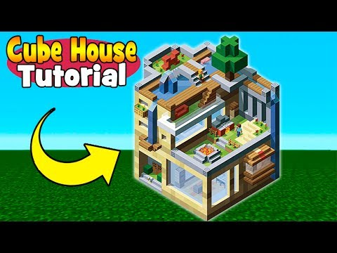 Minecraft Tutorial: How To Make A Creative Cube House