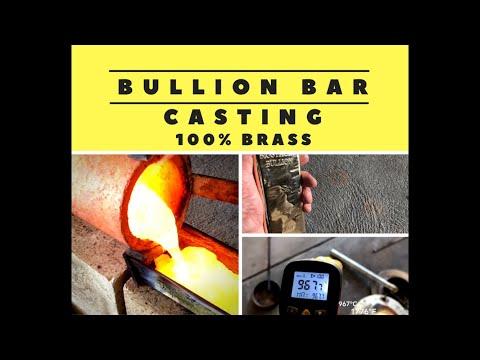 Bullion Bar Casting - Melting Brass - Turning Brass Shavings Into Bullion - Pouring Brass At Home.