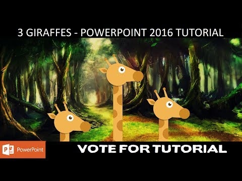 3 Giraffes - Preview Video | Vote For Tutorial | Motion Graphics in PowerPoint 2016