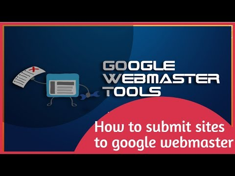 How to submit sites to google webmaster