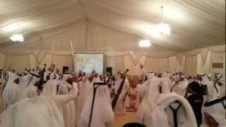 Traditional Qatari wedding sword dance