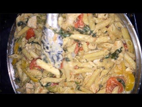 Super Quick & Easy CHICKEN ALFREDO PENNE PASTA Recipe - Alexisjayda