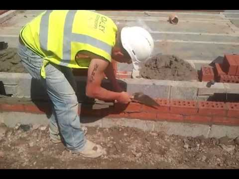 Fast Bricklaying - Building a house - How not to lay bricks