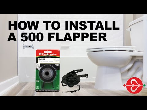 Stop running toilet with Fluidmaster 500 Toilet Flapper for 3.5+ gpf toilets made before 1994