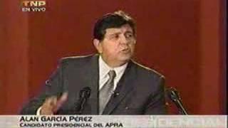 Debate presidencial 2006 entre Alan García y Ollanta Humala