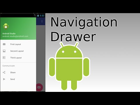 Android Studio - Create Navigation Drawer