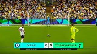 TOTTENHAM vs CHELSEA FC | EPL English Premier League | Penalty Shootout | PES 2019 Gameplay PC