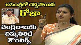 Nagari YSRCP MLA RK Roja mind blowing counters to Chandrababu Naidu In Assembly | Praja Chaitanyam