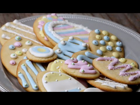 Classic Easter Sugar Cookies with Royal Frosting