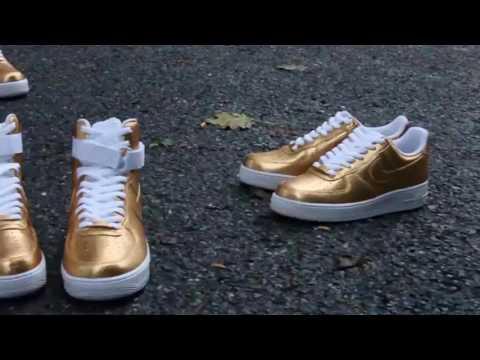 Gold Spark Af1s By @ianjpaintedit
