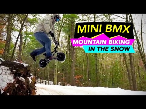 Riding a Rocker Mini BMX in the Snow is Stupid Fun