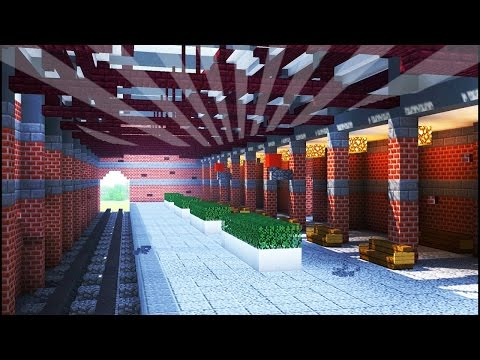 How To Build a TRAIN STATION in Minecraft (CREATIVE BUILDING)