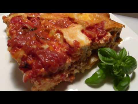 NO BOIL - Cheesy Lasagna With Homemade Beef With Mushroom Sauce and Marinara Sauce