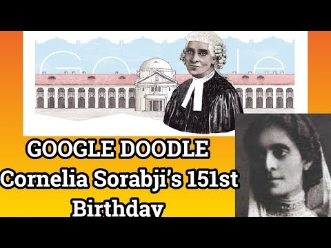 GOOGLE DOODLE Cornelia Sorabji's 151 Birthday-Cornelia Sorabji Doodle-Cornelia Sorabji Google Doodle