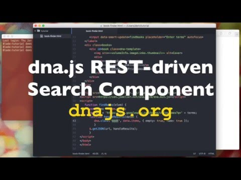 Tutorial ~~ dna.js REST-driven Search Component