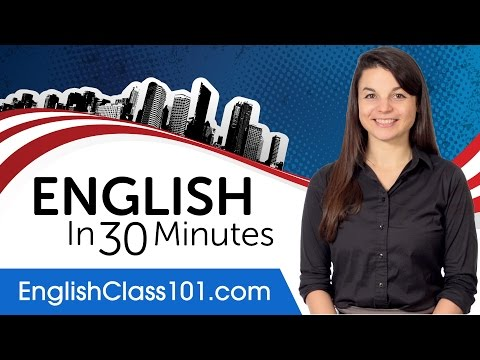 Learn English in 30 Minutes - ALL the English Basics You Need