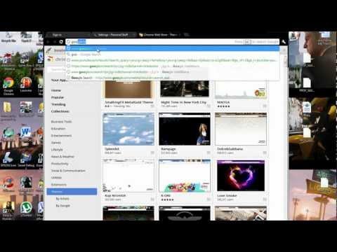 How to: change Google Chrome Backround,theme 2012 tutorial