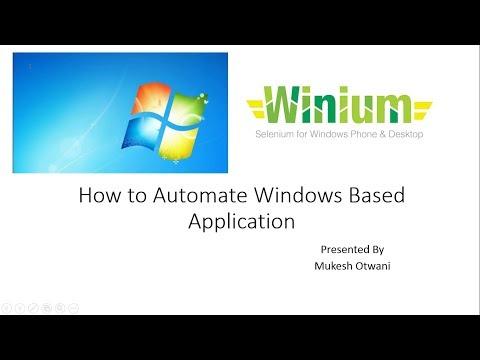How to Automate Windows Based Application using Winium and Selenium