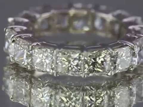 Square Radiant Cut Eternity Band or Radiant cut diamond Eternity ring