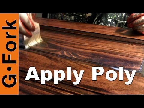 Apply Polyurethane Wood Finish How To - GardenFork