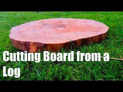 Endgrain Cutting Board from a Log