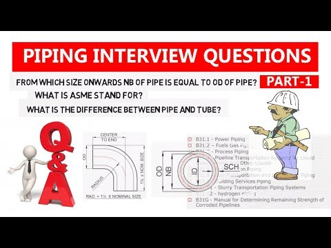 Part -1 Piping interview Question & Answer   Piping Official