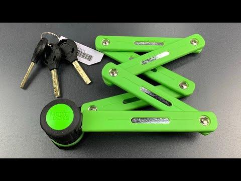 [819] Meet Locks Folding Bike Lock Picked (2 Sidebars, 8 Sliders)