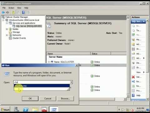 Change IP address in SQL cluster