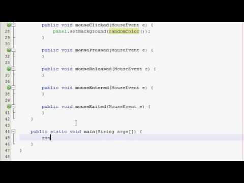 Java GUI Tutorial 17 - Random color panel