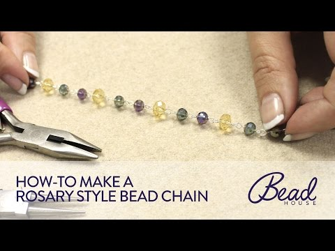 How-To Make Rosary Style Bead Chain - Bead House