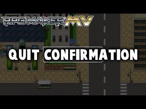 Quit Confirmation Plugin - RPG Maker MV