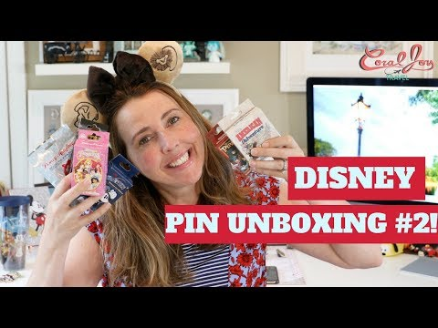 NEW DISNEY MYSTERY PIN UNBOXING! Including The American Adventure Mystery Pins #2  | May 2018