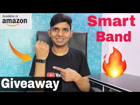 Amazing Smart Fitness Band Unboxing+Giveaway || Available at Amazon